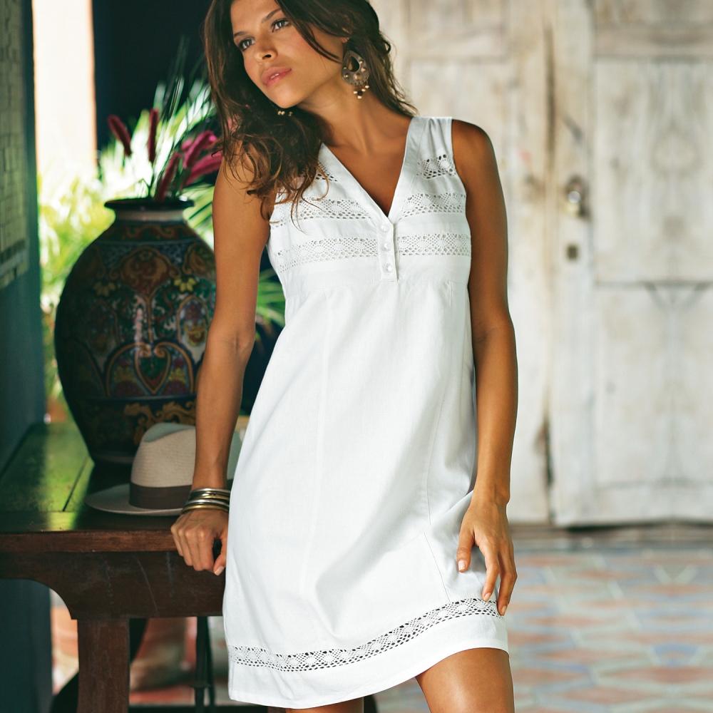 la robe en lin pour plus de fraicheur robe mode. Black Bedroom Furniture Sets. Home Design Ideas